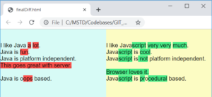 Compare files side by side and hightlight diff using Java | Apache Commons Text diff | Myers algorithm