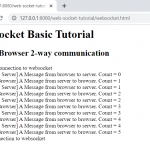 Java Server two-way communication with browser | Simple Websocket example